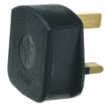 Rubber 13a Fused Plug Top, Black