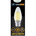 2w (240 lumens) LED Filament Candle - BC
