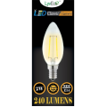 2w (240 lumens) LED Filament Candle - SES