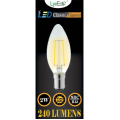 2w (240 lumens) LED Filament Candle - SBC