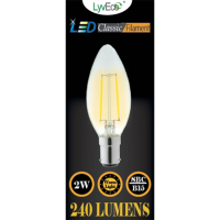 2w (240 lumens) LED Filament Candle - SBC