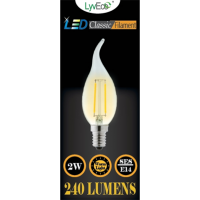 2w (240 lumens) LED Filament Candle Wick - SES