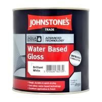 1L Johnstone's Water Based Gloss - White