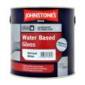 2.5L Johnstone's Water Based Gloss - White