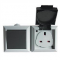 1 Gang 2 Way Outdoor Switch & 13a Socket IP54