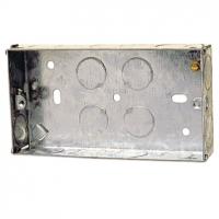 25mm 2 Gang Metal Box