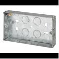47mm 2 Gang Metal Box