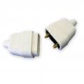 10a 2 Pin Connector, Rubberised White