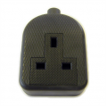 1 Gang Re-wireable Extension Socket, Rubberised Black