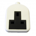1 Gang Re-wireable Extension Socket, Rubberised White