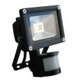 10w LED Floodlight, PIR & Manual Override, IP44
