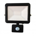 10w LED Slim Floodlight, PIR, IP44 - Black