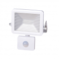 10w LED Slim Floodlight, PIR, IP44 - White