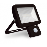 30w LED Slim Floodlight, PIR, IP44 - Black