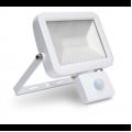 30w LED Slim Floodlight, PIR, IP44 - White