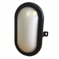 5w LED Bulkhead Oval IP65 Black
