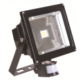 30w LED Floodlight, PIR & Manual Override, IP44