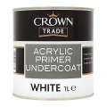 1L Crown Trade Acrylic Primer Undercoat - White