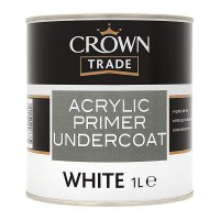 1L Crown Trade Acrylic Primer Undercoat - White