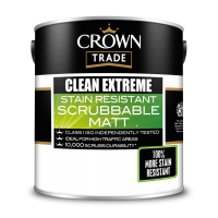 5L Crown Clean Extreme Scrubbable Matt (All Colours)