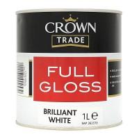 1L Crown Trade Full Gloss (Brilliant White)