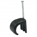 100 Pack Round Cable Clips Black - 6mm