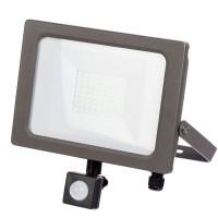 30w LED Floodlight, PIR IP65 - Grey