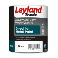 Leyland Direct to Metal Paint - Smooth Black (750ml)