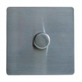1 Gang 2 Way Dimmer Switch, Screwless Stainless Steel