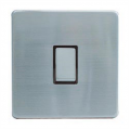 1 Gang 2 Way Light Switch, Screwless Stainless Steel