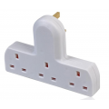 3 Way Cable Free Socket, White