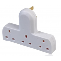 3 Way Cable Free Socket - White