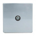 TV Socket, Screwless Stainless Steel