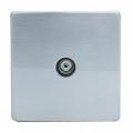 TV Socket, Screwless Stainless Steel