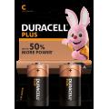 2pk Duracell Batteries - C