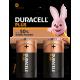 2pk Duracell Batteries - D
