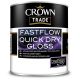 Crown Trade Fastflow Quick Dry Gloss - White (5L)