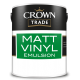 5L Crown Trade Matt Emulsion (Brilliant White)