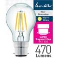 4w (= 40w) Clear LED GLS - BC