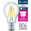 6w (= 60w) Clear LED GLS - BC