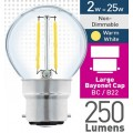 2w (= 25w) Clear LED Round - BC