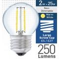 2w (= 25w) Clear LED Round - ES