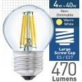 4w (= 40w) Clear LED Round - ES