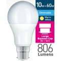 10w (= 60w) Dimmable Frosted LED GLS - BC