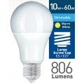 10w (= 60w) Dimmable Frosted LED GLS - ES