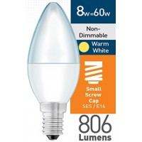 8w (= 60w) Frosted LED Candle - SES