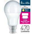 6w (= 40w) Frosted LED GLS - BC