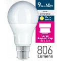 9w (= 60w) Frosted LED GLS - BC
