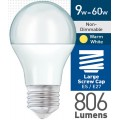 9w (= 60w) Frosted LED GLS - ES