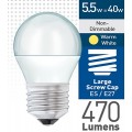 5w (= 40w) Frosted LED Round - ES